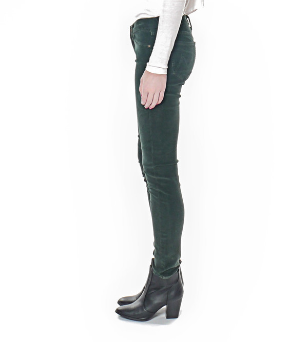 Mother Denim The Looker in Pine Green Cord