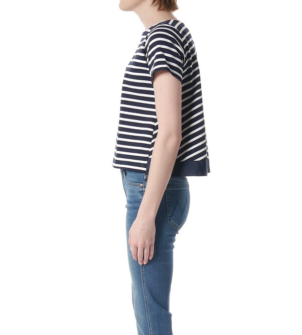 Sacai Luck Striped Trapeze Back T-Shirt