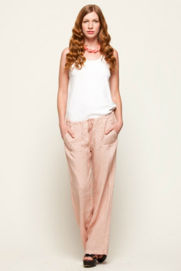Stewart and Brown Drawstring Linen Pant