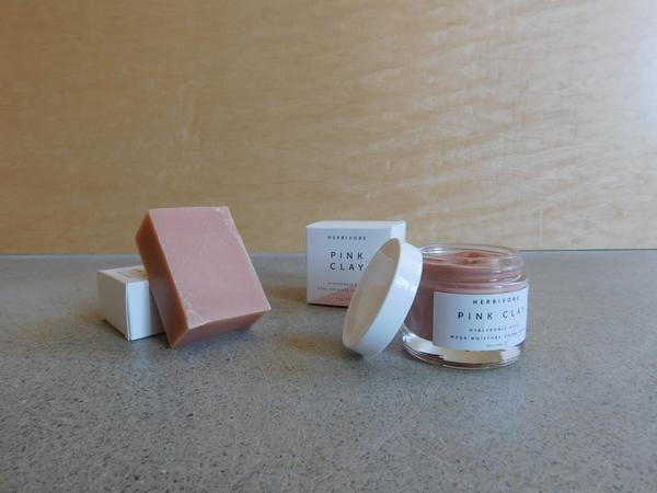 Herbivore Botanicals Pink Clay Soap + Mask Set