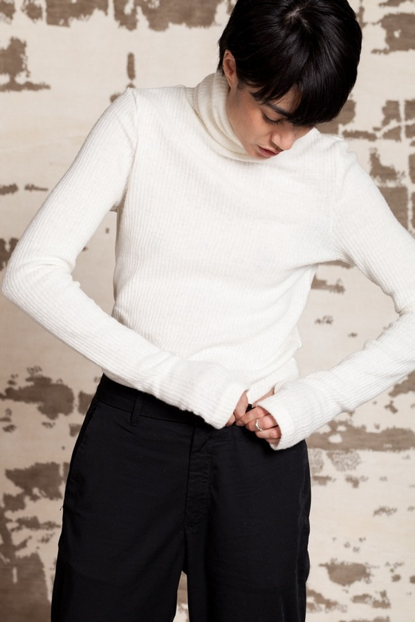 Assembly New York Ribbed Turtleneck | cream