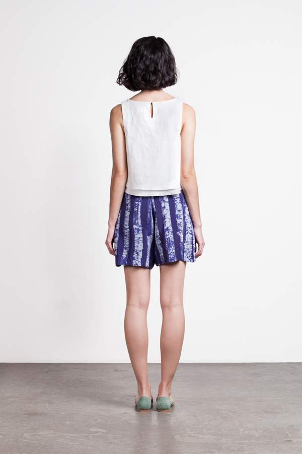 Osei-Duro Lorem Pleated Shorts