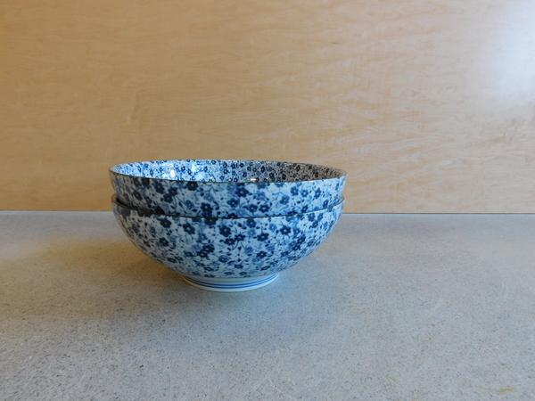 Kotobuki Set of 2 Indigo Micro Flower Bowls