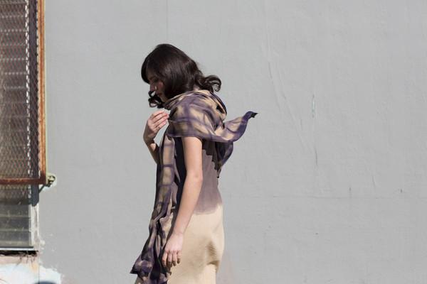 Miranda Bennett Cities & Villages Washed Silk Shibori Wrap