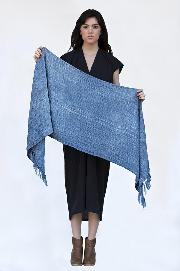 Hand Woven Indigo Wrap