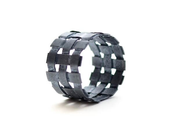 E.M. Woven Grid Ring