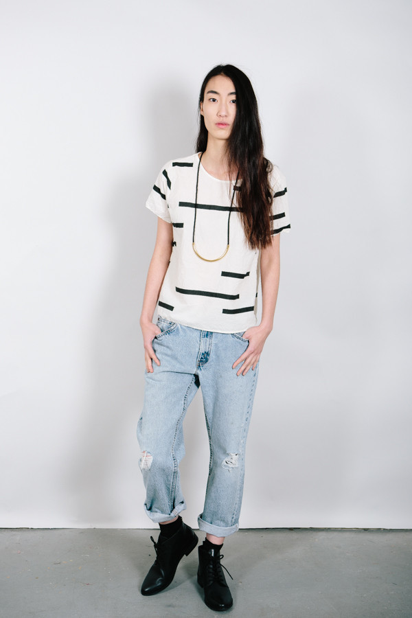 Uzi NYC Broken Stripe Tee