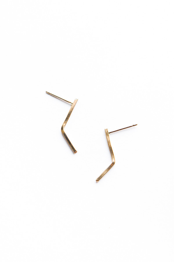 OneSixFive The Angled Bar Earrings