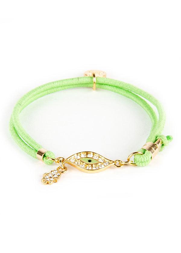 Blee Inara Swarovski Enamel Eye Elastic Bracelet
