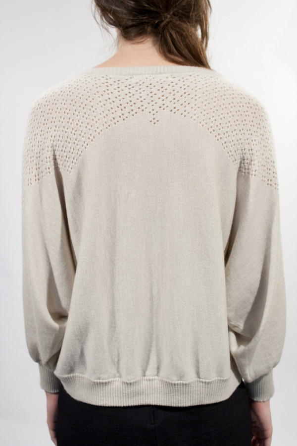 Micaela Greg Diamond Lace Sweater