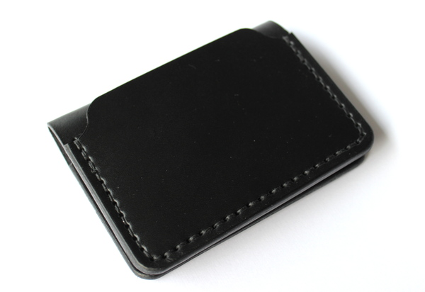 DW Leatherworks Folded Card Wallet - Black
