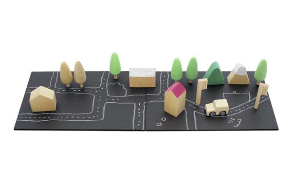 Kukkai Wooden Machi Town Set