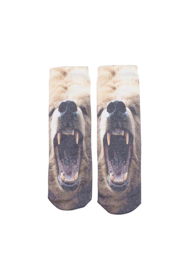 Kid's Popupshop Bear + Tiger Socks