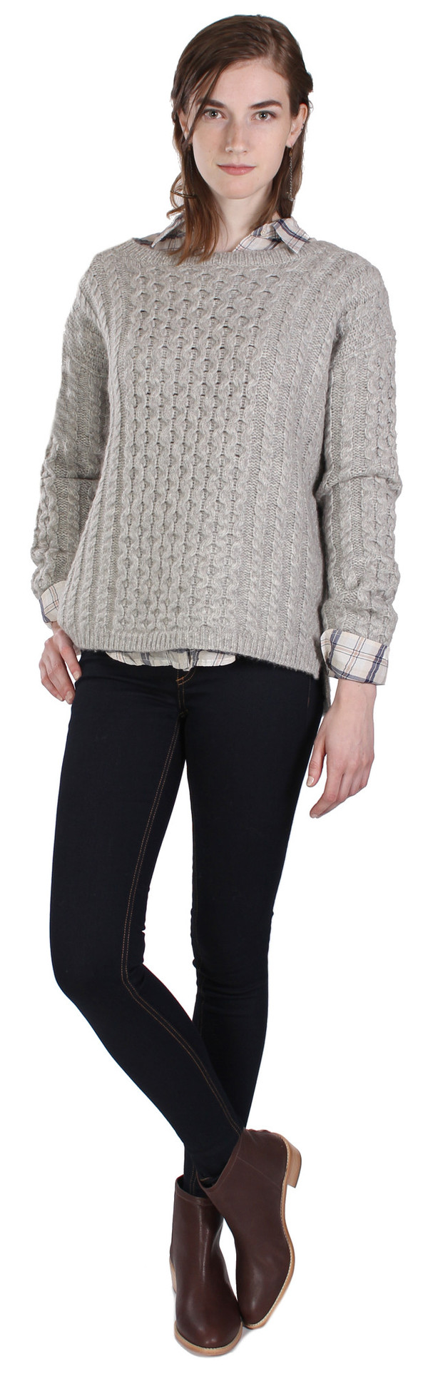 Nili Lotan Kissing Cable Pullover