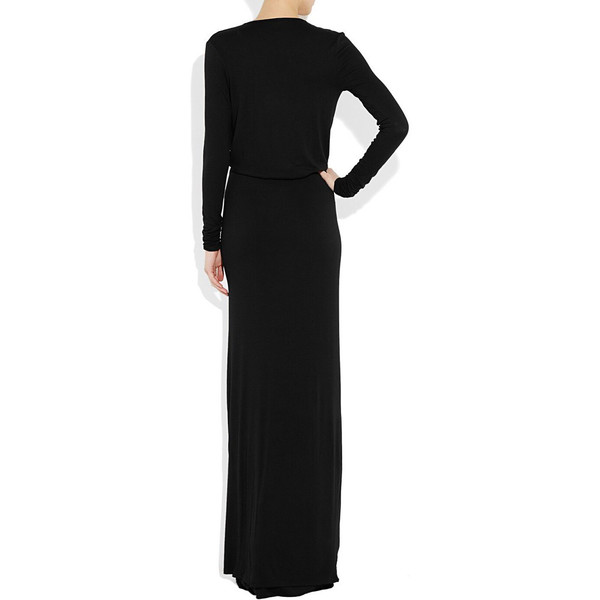 Black day to knight modal jersey dress