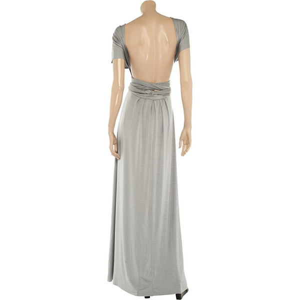 Stone floor length infinity dress