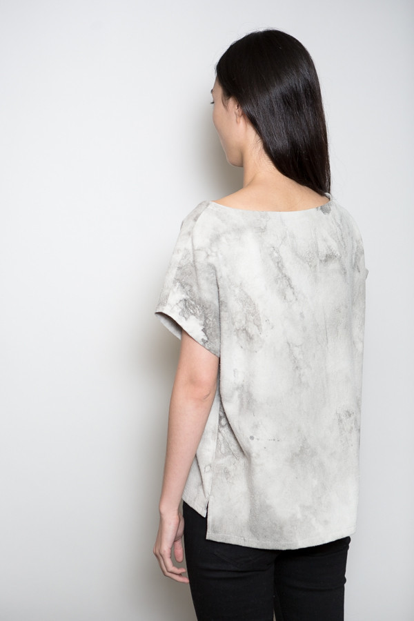MAD Marbled Raw Silk Tee