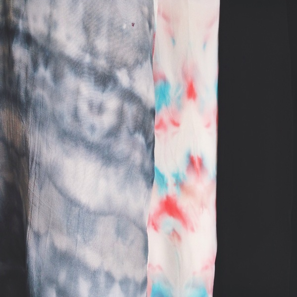 Hand-dyed Shibori Silk Racerback Dress
