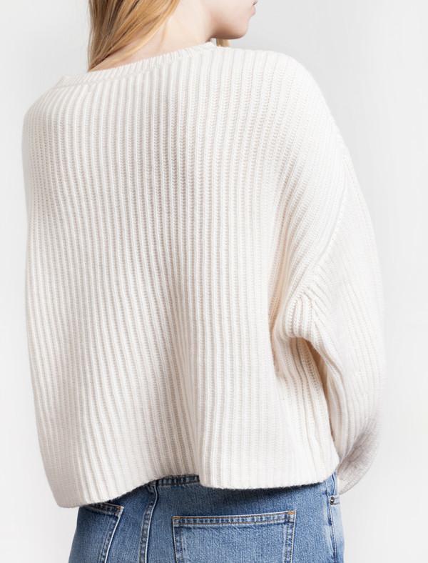 Organic by John Patrick Rib Crop Pullover New White