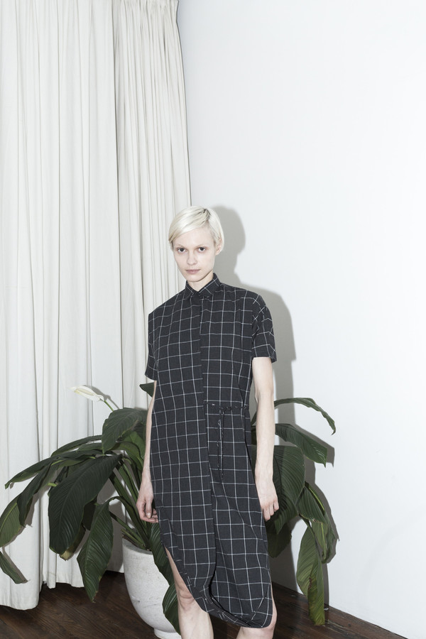 Assembly New York Plaid Twist Dress