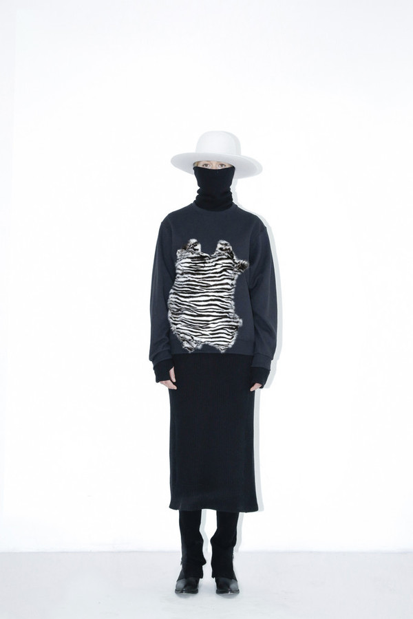 Assembly New York Zebra Fur Sweatshirt