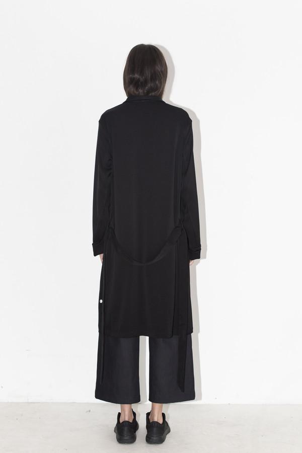 David Michael Black Woven Robe