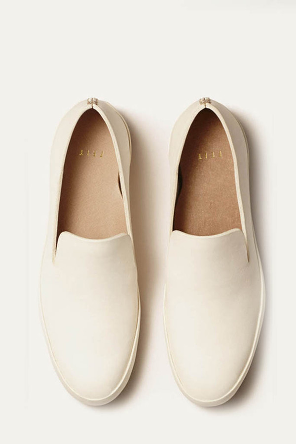 FEIT White Hand-sewn Slipper
