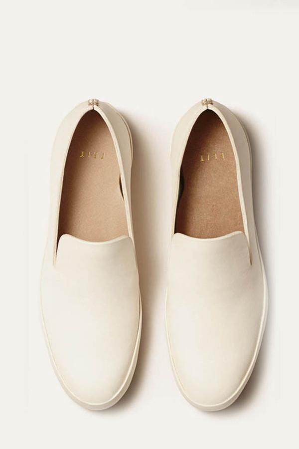 FEIT White Hand-sewn Slipper