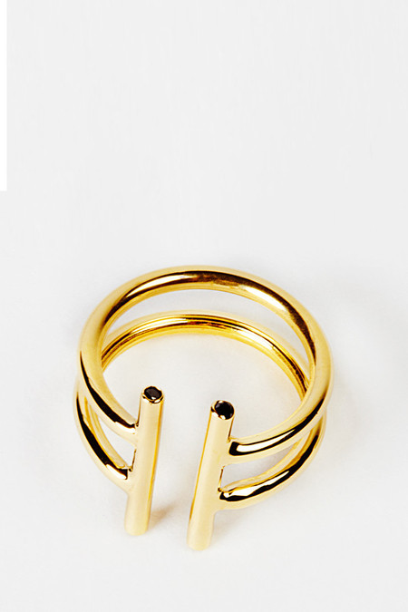 Natasha Wheat Gold Double Non Ring