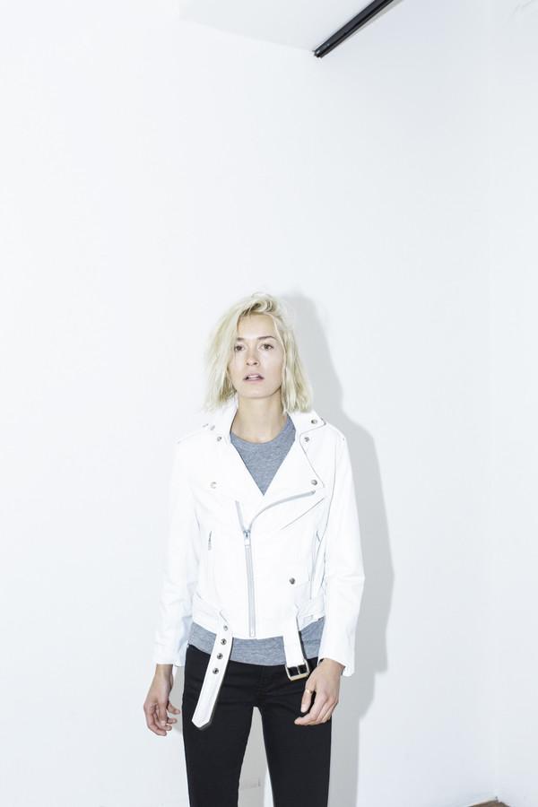 Markoo White Moto Jacket