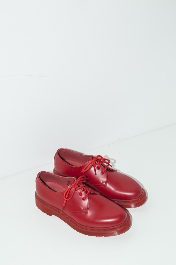 Unisex Dr. Martens Poppy Red 1461 Lace-up Oxford