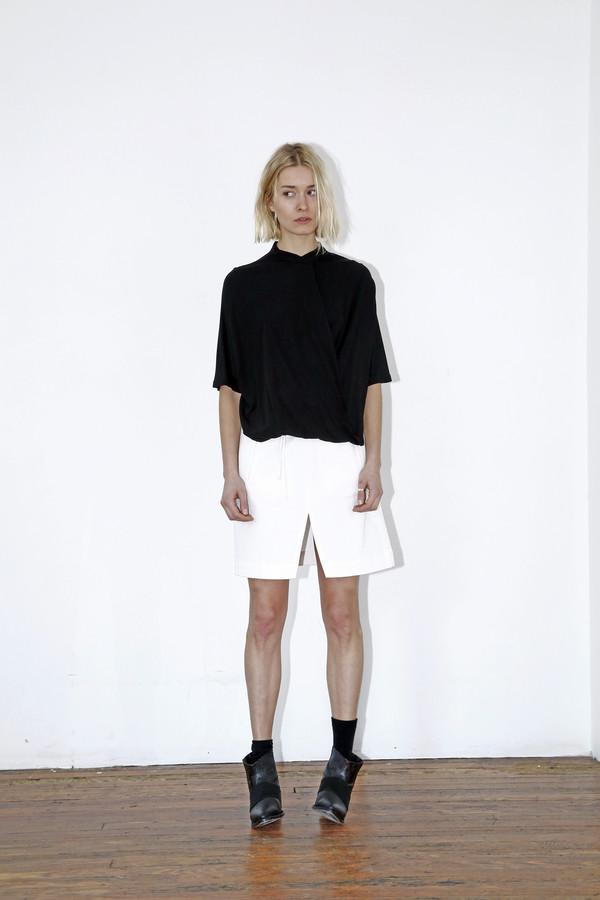 White Denim Pocket Skirt