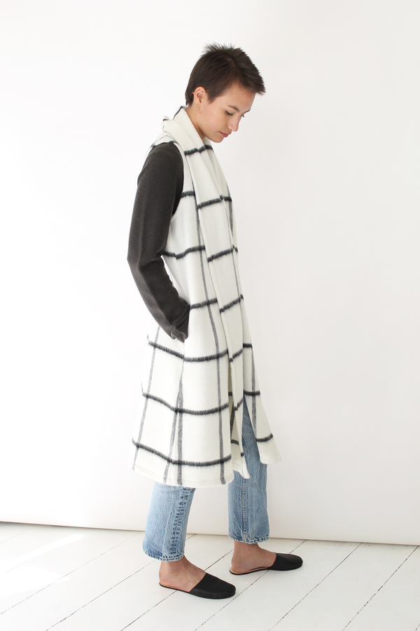 Atelier Delphine long vest coat | grid
