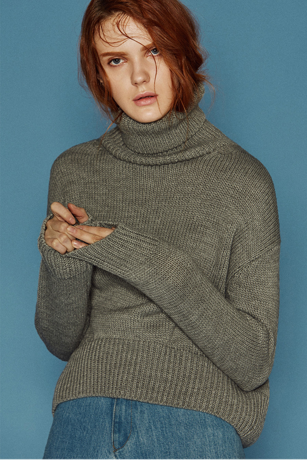 ANDERSSON BELL Karin Turtleneck Sweater- Grey