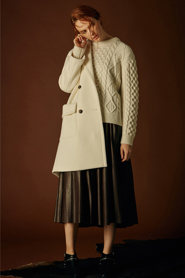 ANDERSSON BELL Aran Cable Sweater- Ivory