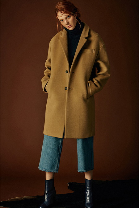 ANDERSSON BELL Johansson Oversized Single Breasted Coat- Beige