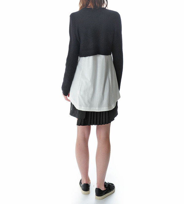 Public School Black Cropped Mohair Pullover