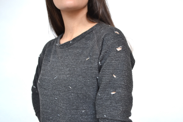 LNA Charcoal Beach Pullover