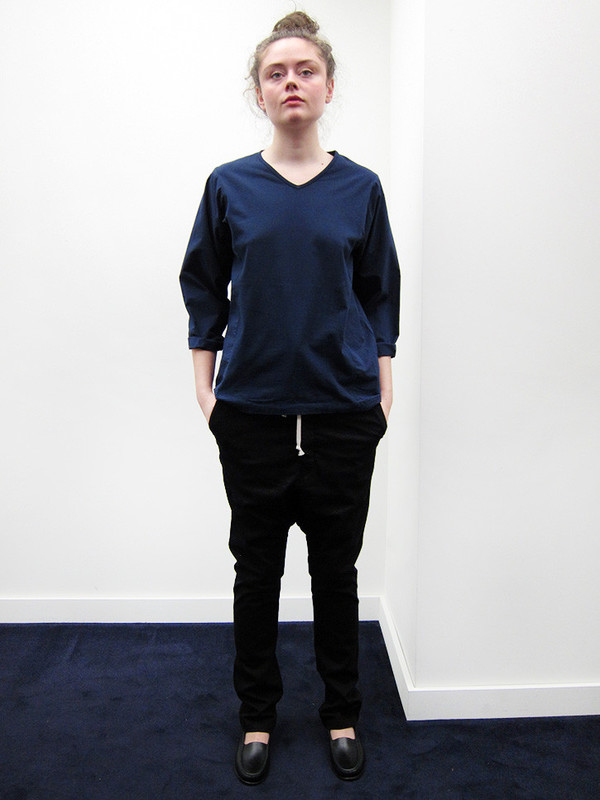 Cosmic Wonder Rolled-up Sleeve Pullover | Navy