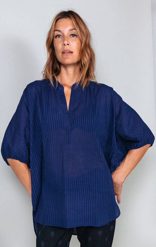 Two Khadi Dolman Top