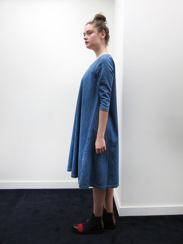 Kapital Shirt Denim Olive Dress