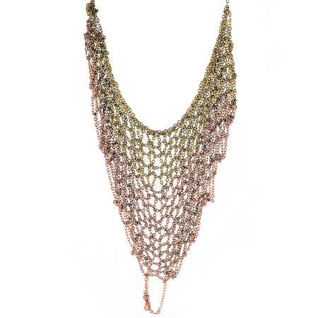Ka'kia V-Mesh Necklace - Gold