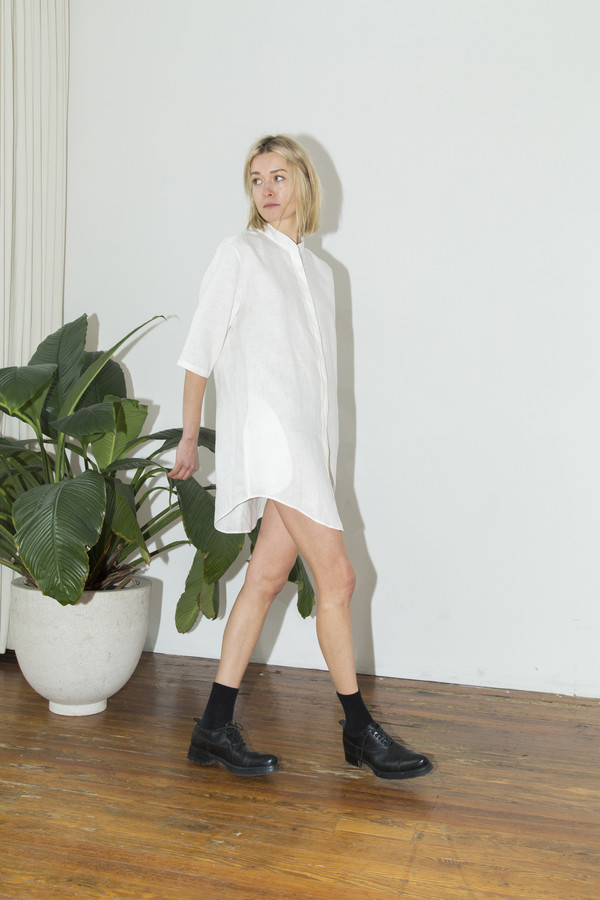 Assembly White No Collar Dress