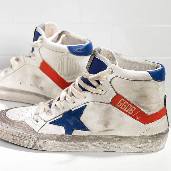 Golden Goose 2.12 SNEAKERS IN LEATHER WITH LEATHER STAR