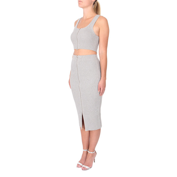 T By Alexander Wang Knit Twill Sleeveless Top