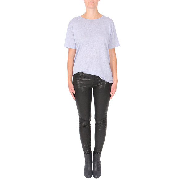 T By Alexander Wang Linen Silk Oversized Tee