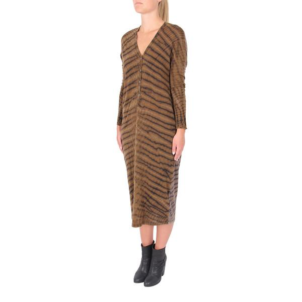 Raquel Allegra Long Sleeve V-Neck Dress