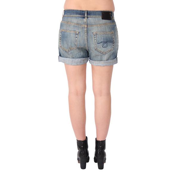 R13 Slouch Denim Shorts