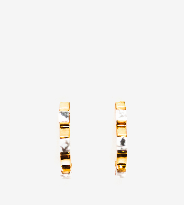Luz Ortiz Cubik Howlite Earrings