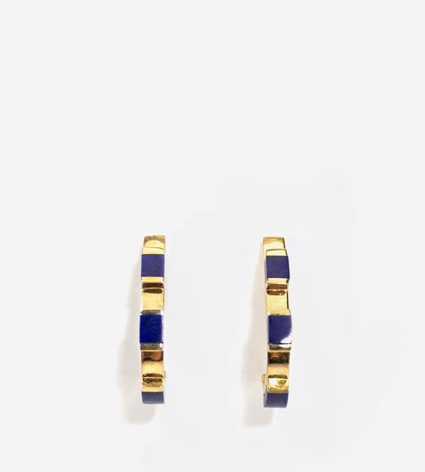 Luz Ortiz Cubik Lapis Lazuli Earrings